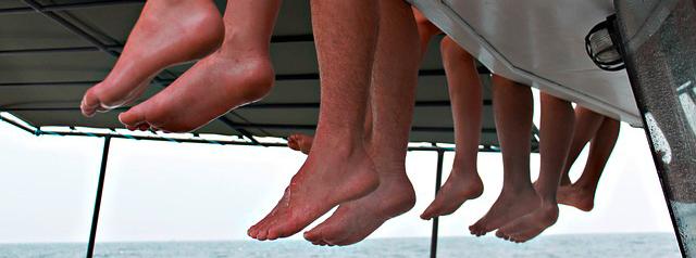 Abbildung vieler Füße